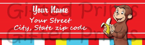 Curious George Return Address Labels
