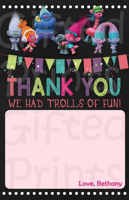 Trolls Thank You Card 1