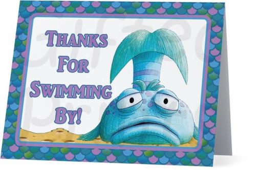 Folded Pout Pout Fish Thank You Card 2