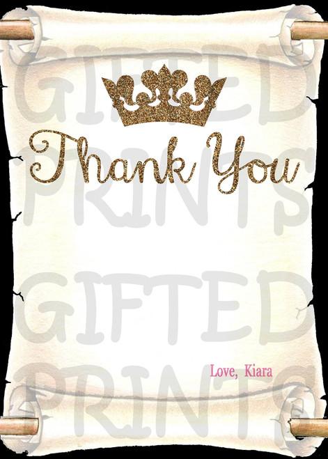 Princess Thank You Card 3