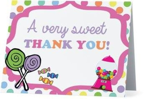 Folded Candy Thank You Card