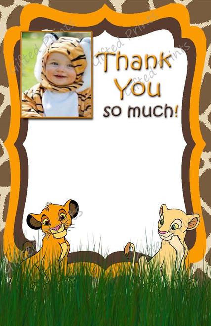 Simba Lion King Thank You Card