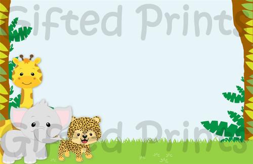 Safari Baby Shower Envelope