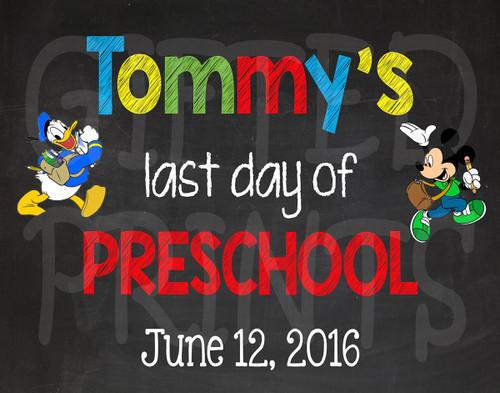 Disney Last Day of School Chalkboard