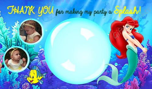 Little Mermaid Thank You Card