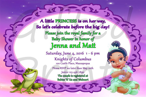 Princess and the Frog Baby Shower Invitation