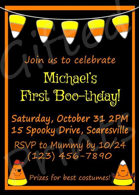 Halloween Birthday Invitation 6