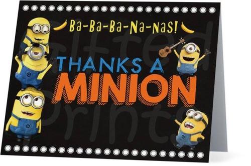 Folded Minions Thank You Card