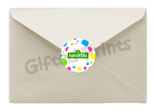 Elmo Luau Envelope Seals