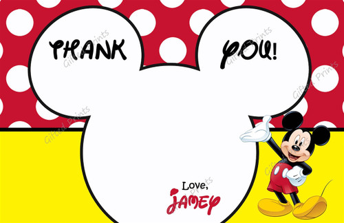 Mouse Thank You Card 4