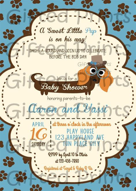 Puppy Baby Shower Invitation