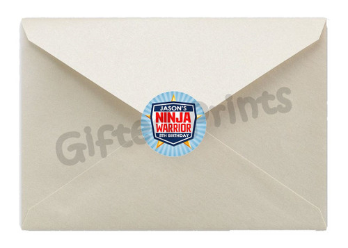Ninja Warrior Envelope Seals