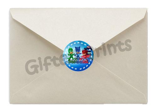 PJ Masks Envelope Seals 1
