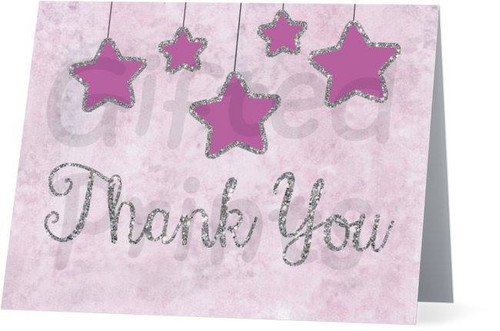 Folded Twinkle Thank You Card