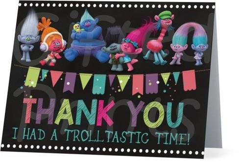 Folded Trolls Thank You Card