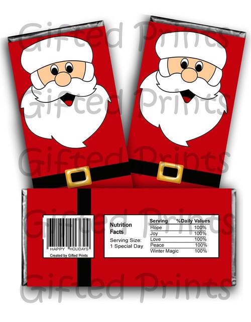 Santa Claus Chocolate Wrapper