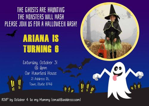 Halloween Birthday Invitation 3