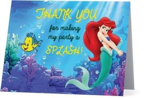 Folded Little Mermaid Thank You Card