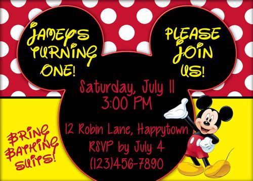Mouse Birthday Invitation 4