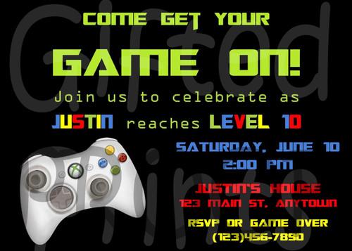 Gaming Birthday Invitation