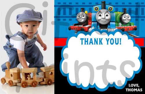 Thomas the Train Thank You Card 1