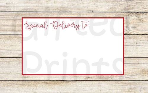Merry Christmas and Happy New Year Holiday Envelope