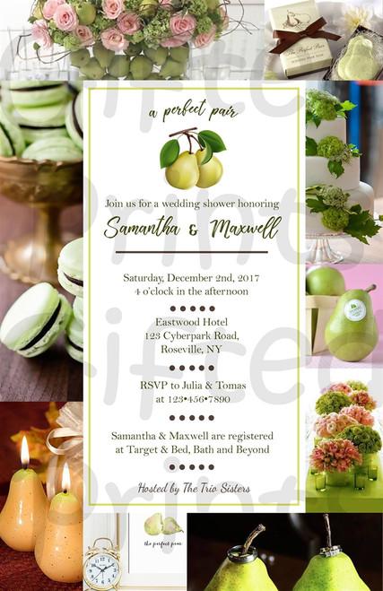 Perfect Pair Bridal Shower Invitation 1