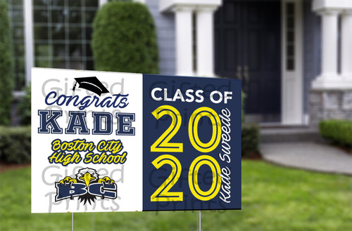 "Graduation Yard Sign 3'x2' (36""x24"")"