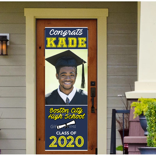 Vertical Graduation Banner With Photo