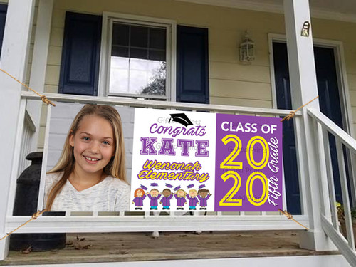 Elementary Graduation Banner With Photo