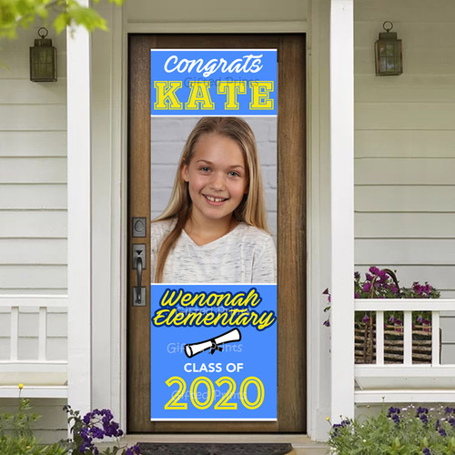Vertical Elementary Graduation Banner With Photo