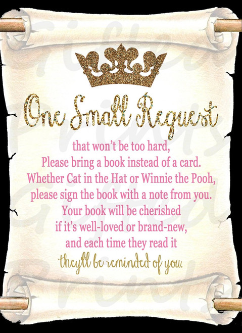 Princess Invitation Insert 1