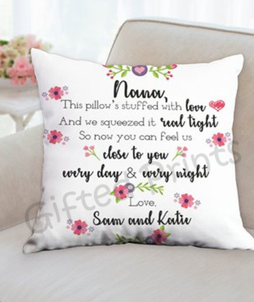 Note for Grandmother Photo Pillow