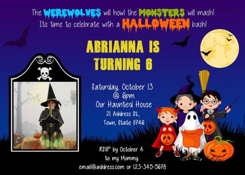Halloween Birthday Invitation 1