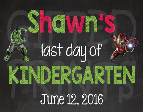 Avengers Last Day of School Chalkboard