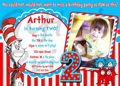 Dr. Seuss Birthday Invitation 3