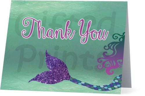 Folded Mermaid Thank You Card