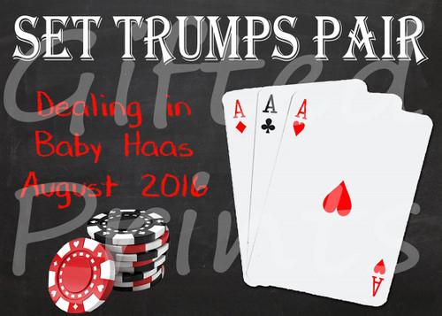 Pregnancy Announcement, Poker Themed