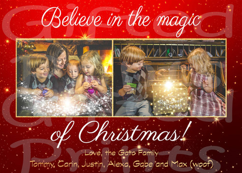 Believe In The Magic Holiday Card