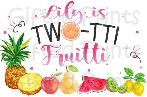 Two-tti Fruitti Theme With Name Backdrop Banner