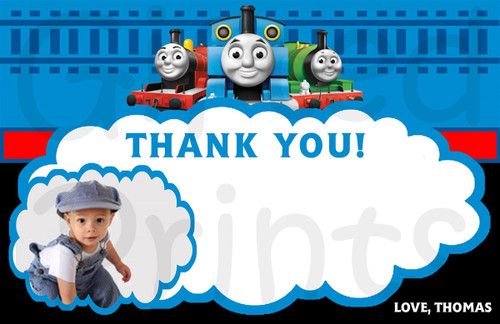 Thomas the Train Thank You Card 2