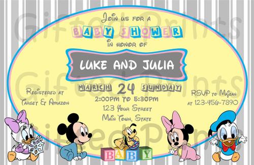 Disney Babies Baby Shower Invitation