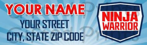 Ninja Warrior Return Address Labels 1