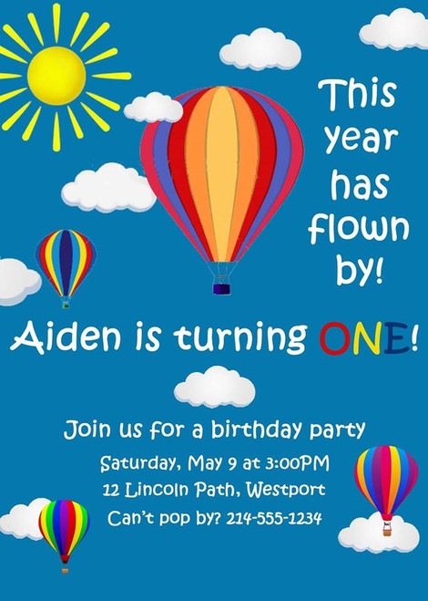 Balloon Birthday Invitation