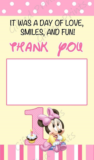 Minnie Mouse Thank You Card