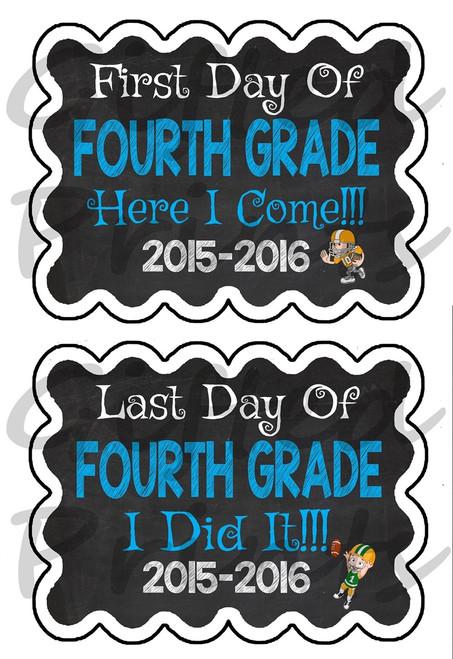 First Day/Last Day of School Chalkboard - Football Theme