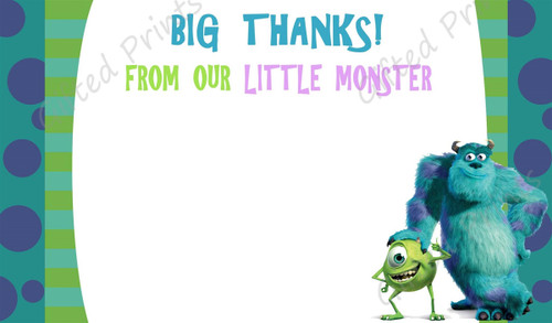 Monsters Inc. Thank You Card 1