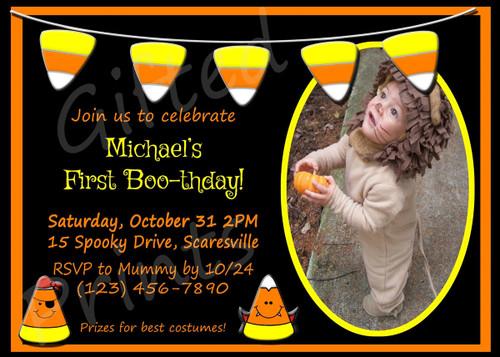 Halloween Birthday Invitation 5