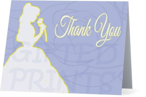 Folded Beauty and the Beast Thank You Card 1