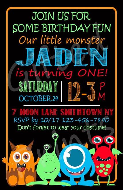Halloween Birthday Invitation 4
